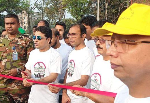 শ্রীমঙ্গলে ৫ শতাধিক দৌড়বিদের অংশগ্রহণে 'বঙ্গবন্ধু শেখ মুজিব ঢাকা ম্যারাথন- ২০২১' অনুষ্টিত